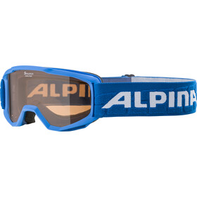 Alpina Piney Masque Enfant, blue/orange